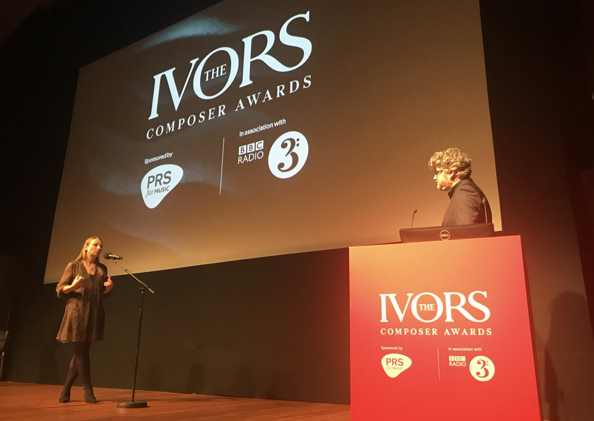 A huge thank you to @KateMolleson and Tom Service 👇 - our fabulous presenters at #TheIvorsComposerAwards. You can hear interviews from the winners & ceremony highlights on @BBCRadio3 this Sunday at 9pm https://t.co/DoEDPCERhx