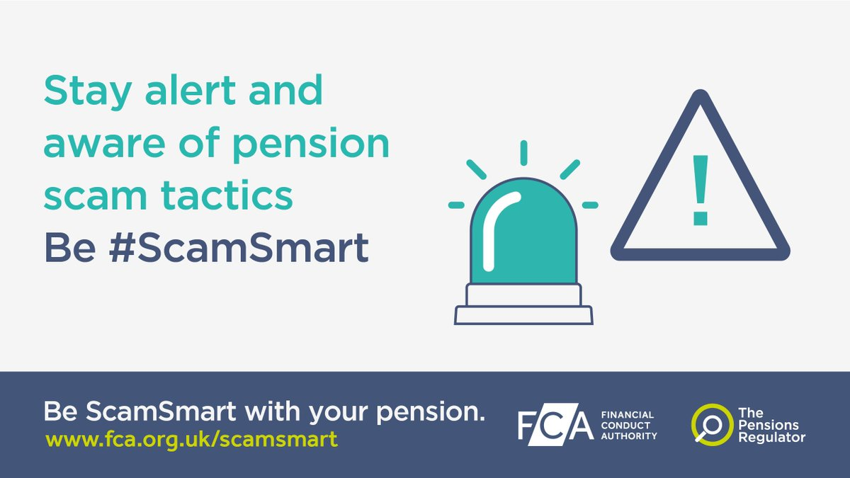 test Twitter Media - 46% of pension holders admit they'd trust someone using common fraudster tactics. Refer to TPRs checklist if a member asks to transfer their pension. Be #ScamSmart: https://t.co/FpBUsPhNL5 https://t.co/IfQFsgv5GL