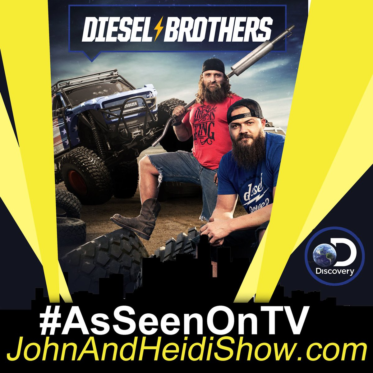 John and Heidi Show on Twitter: MONDAY we visit with Heavy D & Diesel Dave about the new season of DIESEL BROTHERS. (Mon, Dec 9 at 8pm ET/PT on #DiscoveryChannel) You can join the conversation by using the hashtag #DieselBrothers (follow them on social media for updates)  #HeavyD #DieselDave #Discovery #Trucks…