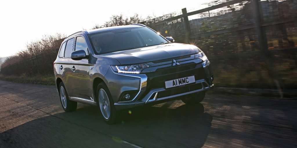 """Introducing the new top-spec #OutlanderPHEV Commercial Reflex Plus! It's a big plus too, with the introduction of 18-inch alloy wheels, an 8"""" touchscreen with smartphone connectivity (Apple CarPlay & Android Auto), & a reversing camera.   Find out more at:"""