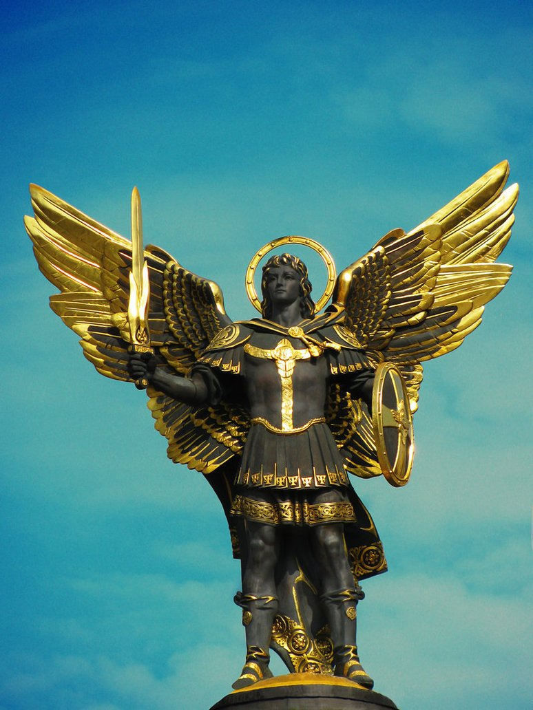 Archangel Michael Sculpture, Independence Square, Kiev, Ukraine