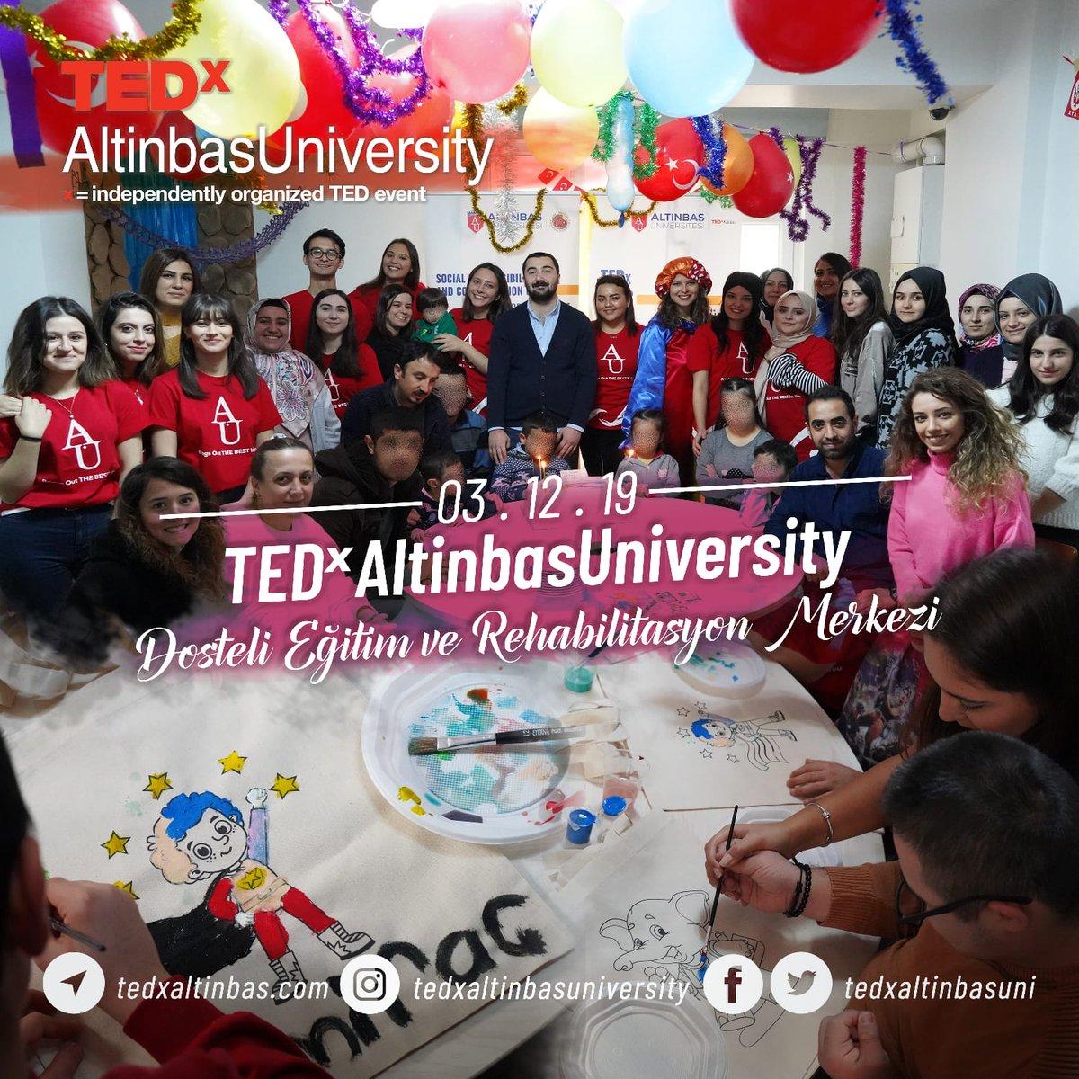 3 Aralık Dünya Engelliler Gününde TEDxAltinbasUniversity olarak @altinbasssoy  ile birlikte Dosteli Eğitim ve Rehabilitasyon Merkezindeydik.