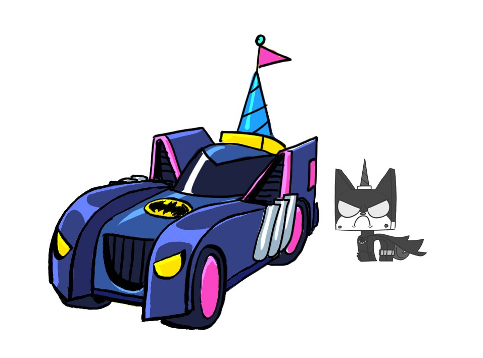 An unused Batkittymobile design I did for our #Unikitty #Batman crossover episode, directed by @CareenIngle and starring @arnettwill as Batkitty!