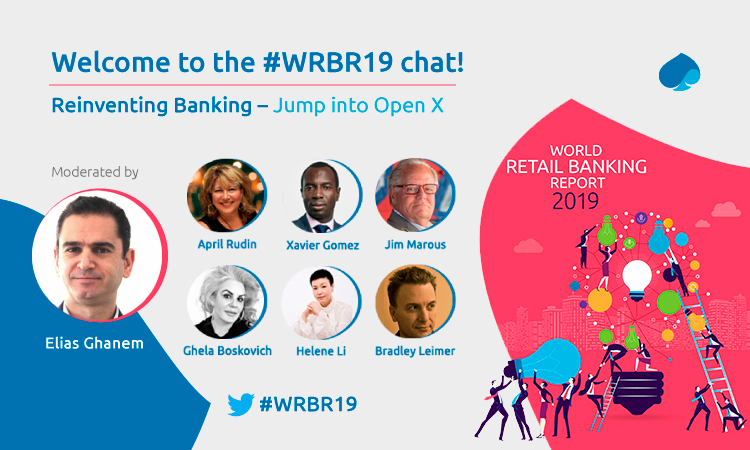 Welcome everyone to our Reinventing Banking – Jump into Open X Twitter Chat. #WRBR19 @Efma_news We have an amazing lineup: @JimMarous @TheRudinGroup @helene_wpli @leimer @Xbond49 @GhelaBoskovich