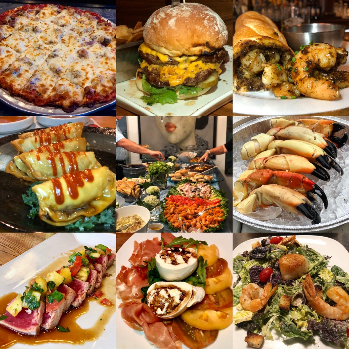So many amazing bites and dishes this year! Here's our Top 9 bites of 2019! #Foodiechats #Foodies #Foodie #Chicago #Miami #LakeGeneva #Vancouver #LosAngeles #Philadelphia #EatThis #Pizza #Burger #Shrimp #Salmon #StoneCrab #Tuna #Burrata #Scallop #Seafood #Fruit #Vegetables