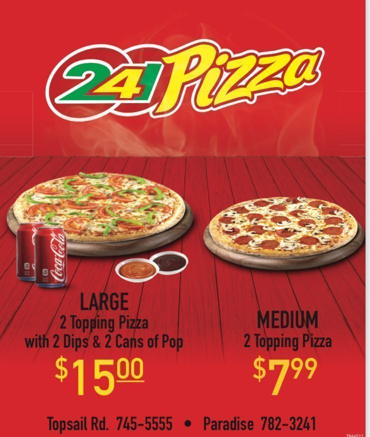 Even more great deals from 241 Pizza at Robin's Donuts. #pizza #deals