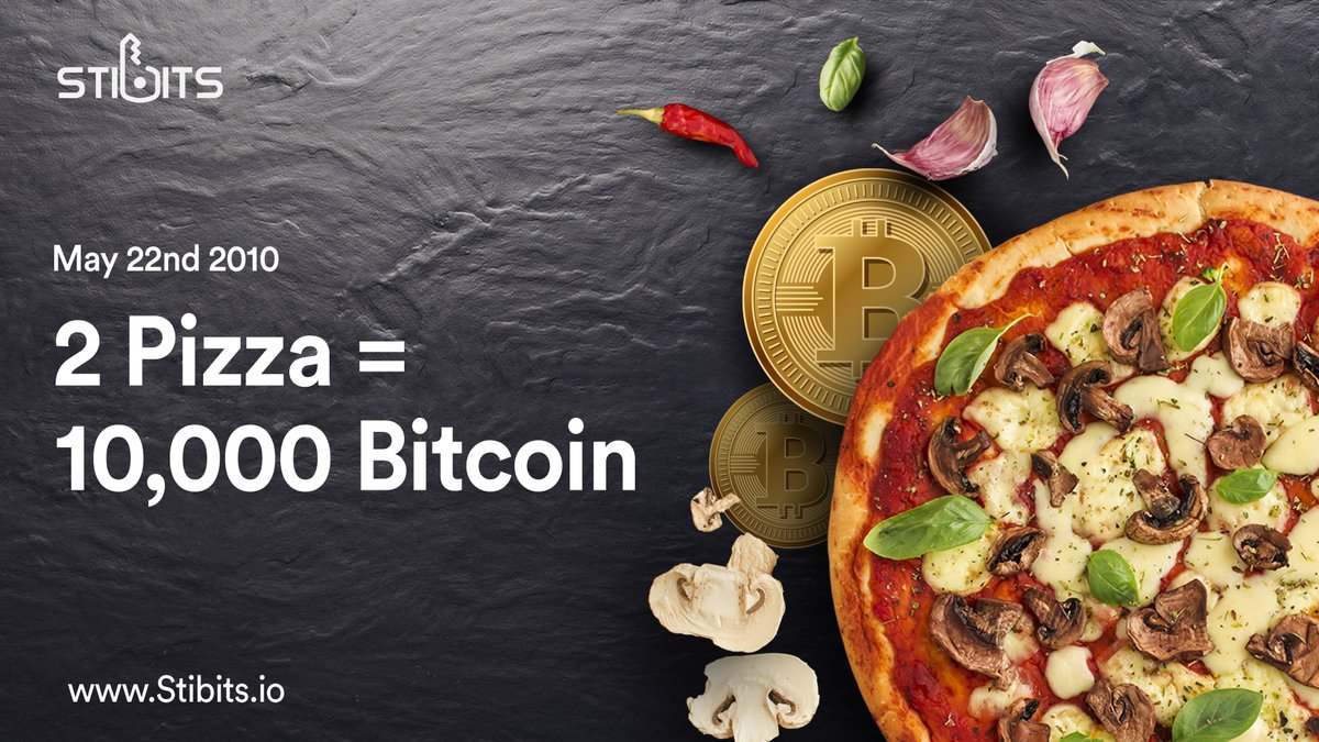 Interesting Fact about Cryptocurrency was that the first #Bitcoin purchase was for a pizza. With Stibits, soon you can send crypto to a pizza shop using their identity and buy #pizza #simplicity