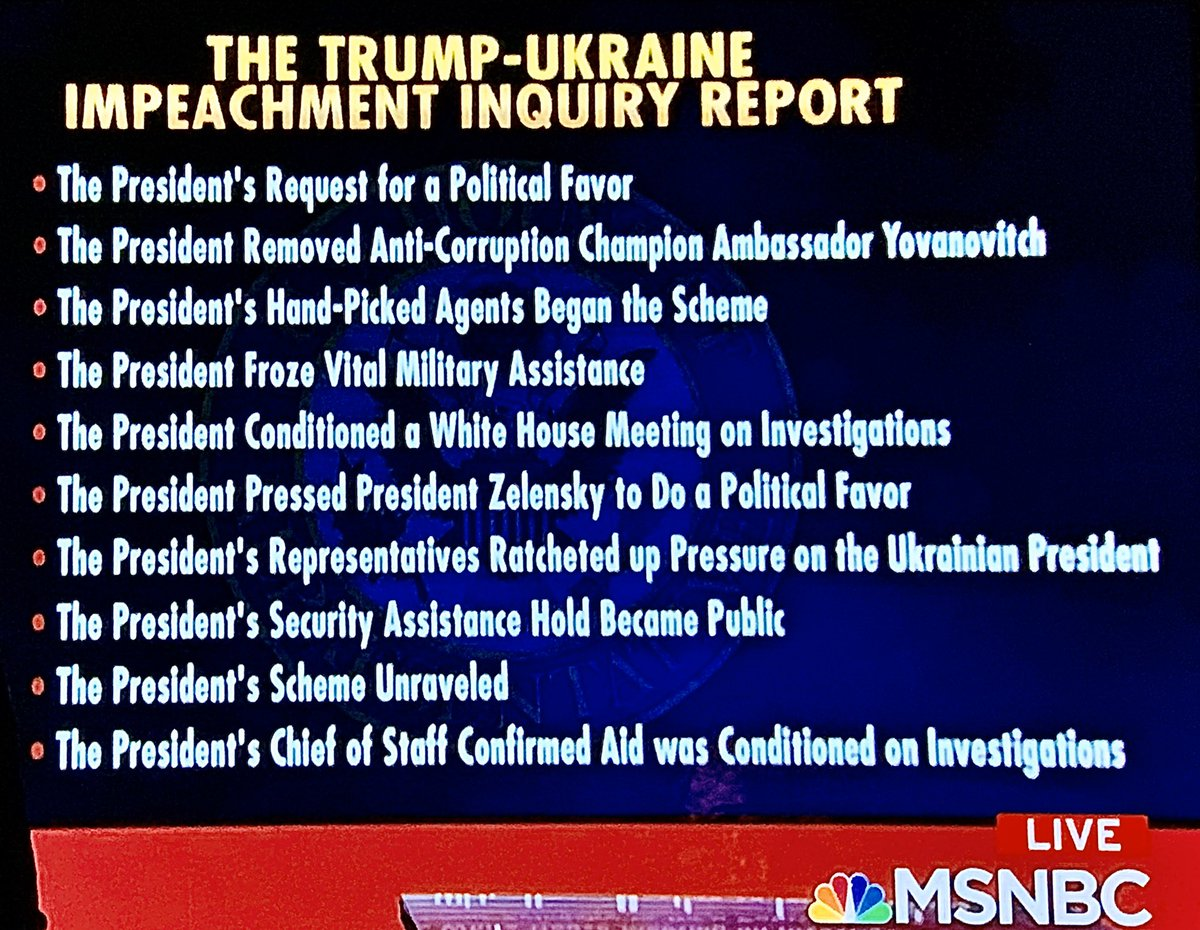 Americans should understand basic facts in 300 page #House #ImpeachmentReport 🇺🇸Full text indexed http://nyti.ms/2sLKTCl 🇺🇸Executive summary only 6 pages 🇺🇸Shorter #NYT summary http://nyti.ms/2Lptrdq 🇺🇸#RachelMaddow's outline in pix #ukrainegate #nooneisabovethelaw #dumptrump