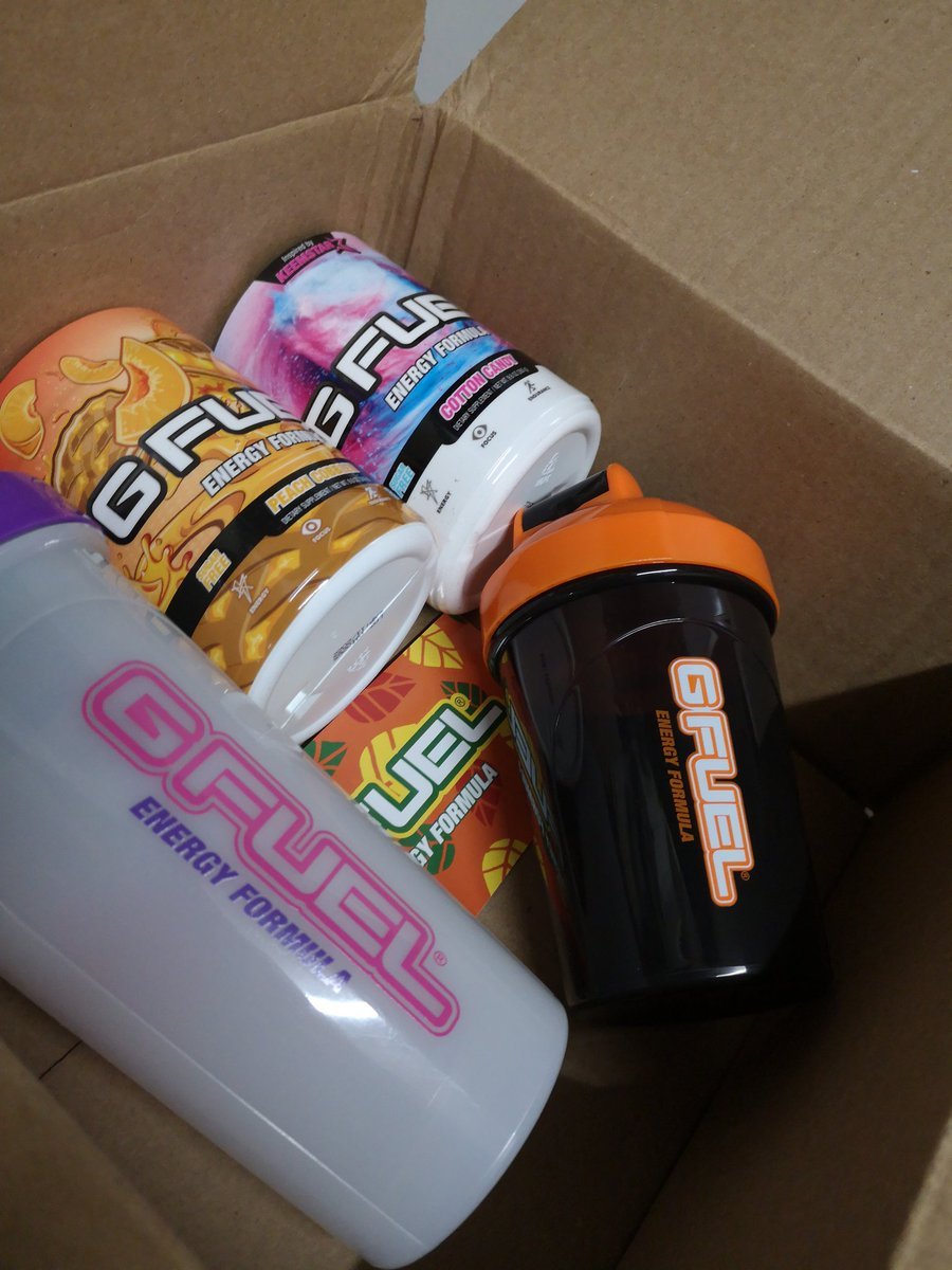 Look what just got here @GFuelEnergy 🤤 https://t.co/BMjc3usxVN