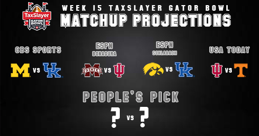 Have you made your picks?  Calling our prez in the AM to tell him who loves us most.