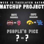 Image for the Tweet beginning: The final #TaxSlayerGatorBowl media projections
