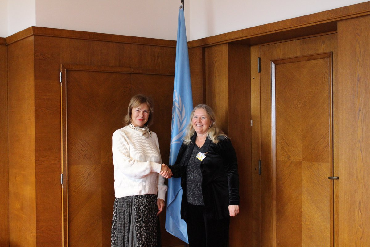 .@ClimateSusanne, Assistant Director-General at the Global Green Growth Institute @gggi_hq met with Executive Secretary @algayerova @UNECE and #GGGI will cooperate on the organization of the 9th #Environment for #Europe (#EfE) Ministerial Conference in #Nicosia in 2021