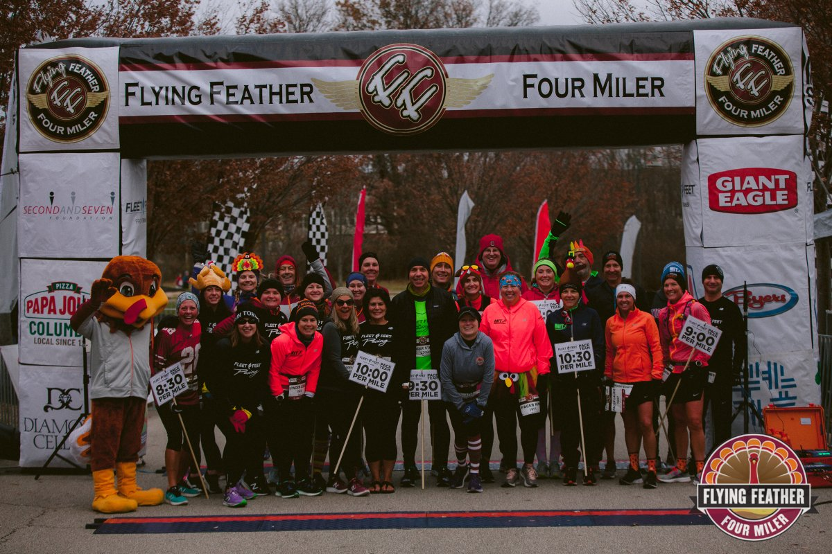 Who had fun at the #FlyingFeather4Miler? Check out the race photos here:   #runner #run4wine #columbus #m3ssports