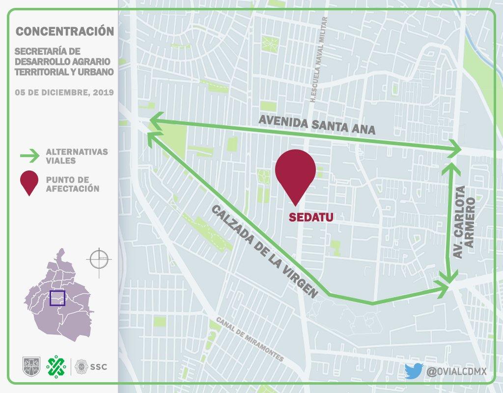09:27 #PrecauciónVial cerrada la circulación de #EscuelaNavalMilitar al Sur de Av. Santa Ana a Manuela Sáenz, por manifestantes. Consulte #AlternativaVial