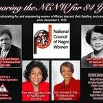 Image for the Tweet beginning: The NCNW celebrates 84 yrs