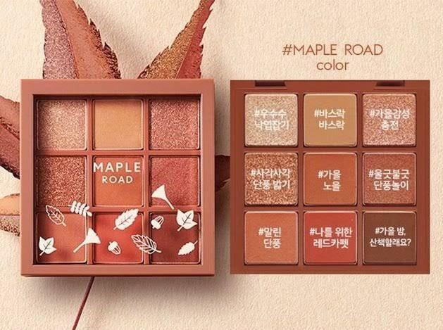 #Etude House Play Colour Eye Palette  #Maple Road  สีสวยมากแม่!!! พาเลท 9 หลุม 🍁โทนสีน้ำตาลแดงใบเมเปิ้ล ต้อนรับ Autumn  🍁ไล่เฉดสีน้ำตาล แดง ส้ม ครบทั้งเนื้อแมทและชิมเมอร์ละเอียดใช้แต่งได้ทุกวันทุกโอกาส จะลุคใสๆหรือแซ่บๆก็เอาอยู่  ราคา 410฿  #eyeshadow #อายแชโดว์ #midorishop