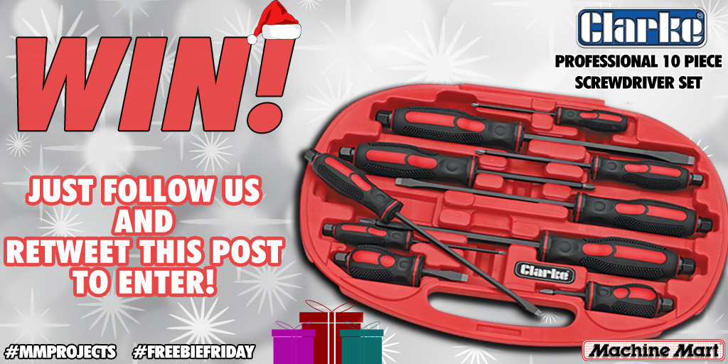 We've got another great #FreebieFriday #giveaway for you today, with a Clarke Professional 10 Piece Screwdriver Set up for grabs!!  For your chance to #win, simply follow us and retweet this post. It couldn't be easier!   T's & C's apply. #Competition ends on 9/12/2020 @ 4pm.<br>http://pic.twitter.com/Bheks7GR9P