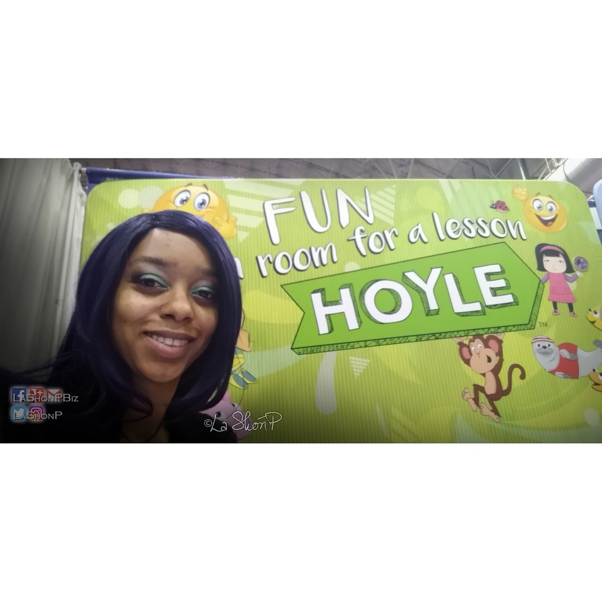 #LatePost from the Toy and Game Expo. Had a blast with Hoyle and Bicycle Cards. #PromoWork #HustleNGlow