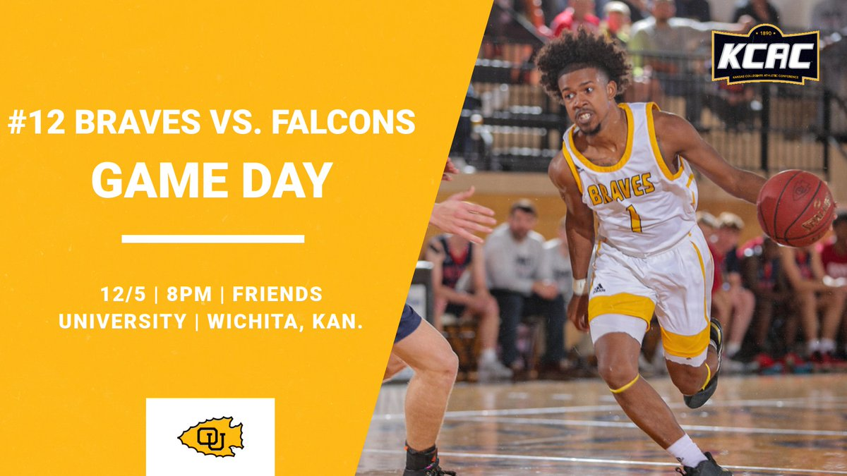 .@braveshoops #12 Braves are back on the road TONIGHT against @FriendsFalcons at the Garvey Center in Wichita, Kan. The game is scheduled to begin at 8pm. Live stats, video, and audio links at ottawabraves.com #BraveNation