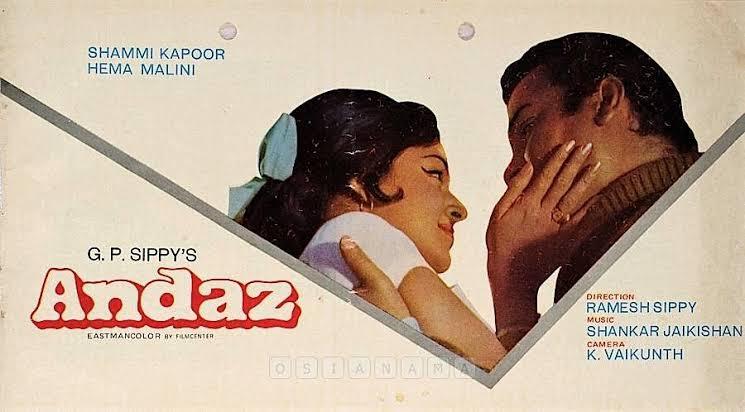 #Andaz (1971) by @rgsippy, feat. @dreamgirlhema #ShammiKapoor @Simi_Garewal #Ajit #ArunaIrani #AchalaSachdev #David and #RajeshKhanna, now streaming on @PrimeVideoIN.  #ShankarJaikishan #HasratJaipuri  @Javedakhtarjadu #Gulzar @ashabhosle @nh_studioz<br>http://pic.twitter.com/wZBqNnj3l8