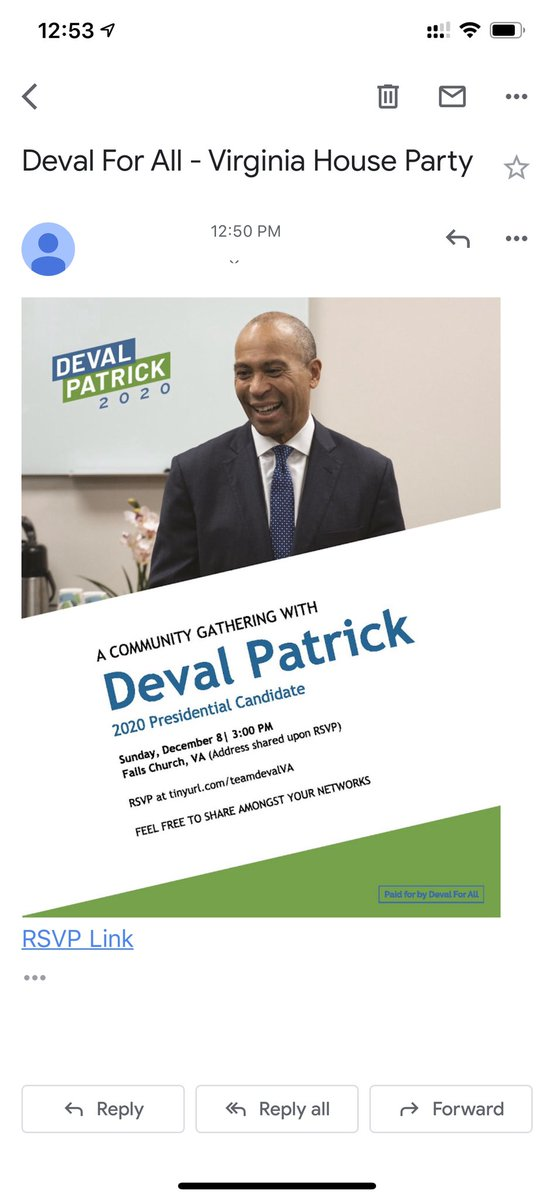 I got an invite to a Deval Patrick house party and... I forgot he was running? https://t.co/9Sf8joOXBb