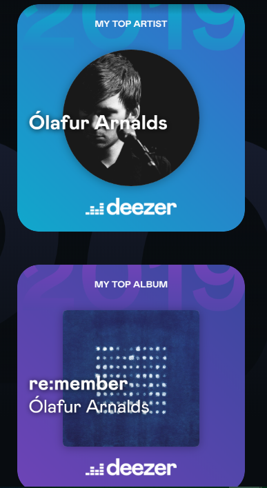 It would appear 2019 has been the year of the piano. Thanks for keeping me sane @OlafurArnalds @poppyackroyd<br>http://pic.twitter.com/eOa43bt8Bn