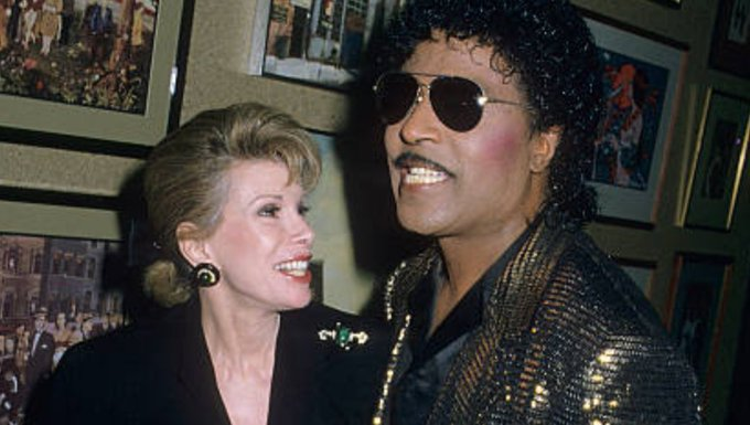 from Melissa Rivers: Happy birthday, Little Richard! With my mom at an event in 1998.
