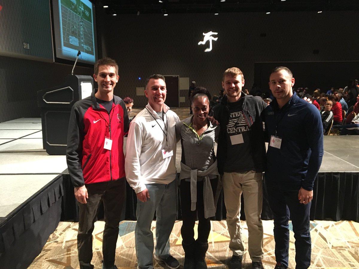 HCTF coaches at the All-Star Clinic! Met 3 x US. Gold Medalist Gail Devers! 10.92 100m PR #hctf @HCRHSAthletics