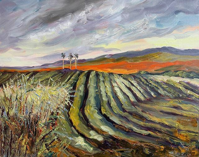 """These roots are fascinating. #susanmains from the Ancestor Series. Opens at Gallery of Caribbean Art 12th Jan #Barbados #speightstown  #oilpainting #sugarcane #caribbean #islands #instaart #landscape #paysage 24"""" x 30"""""""