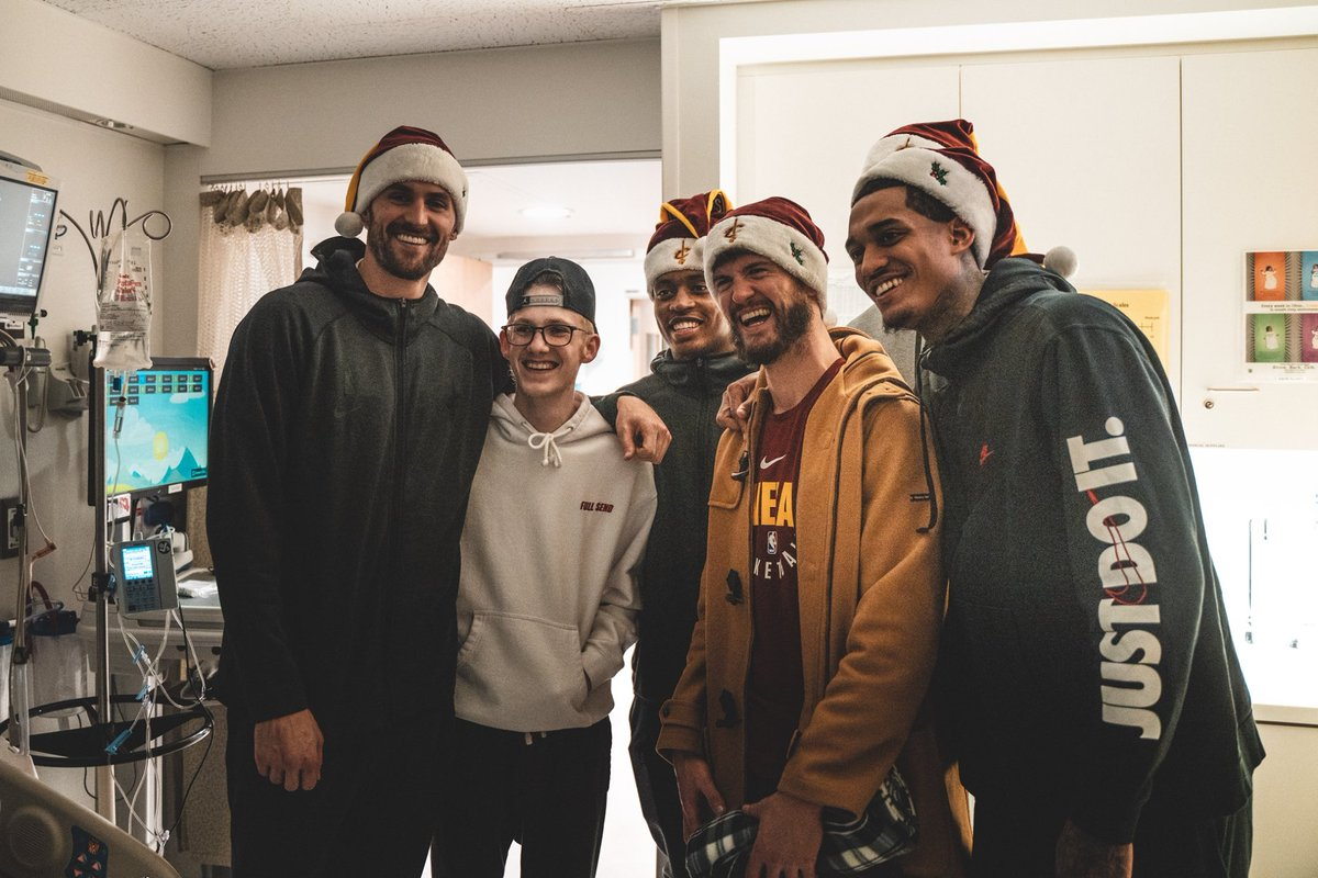 Thank you @cavs for delivering gifts to our little patients, and most importantly for delivering hugs, smiles, much love and laughter 😍.