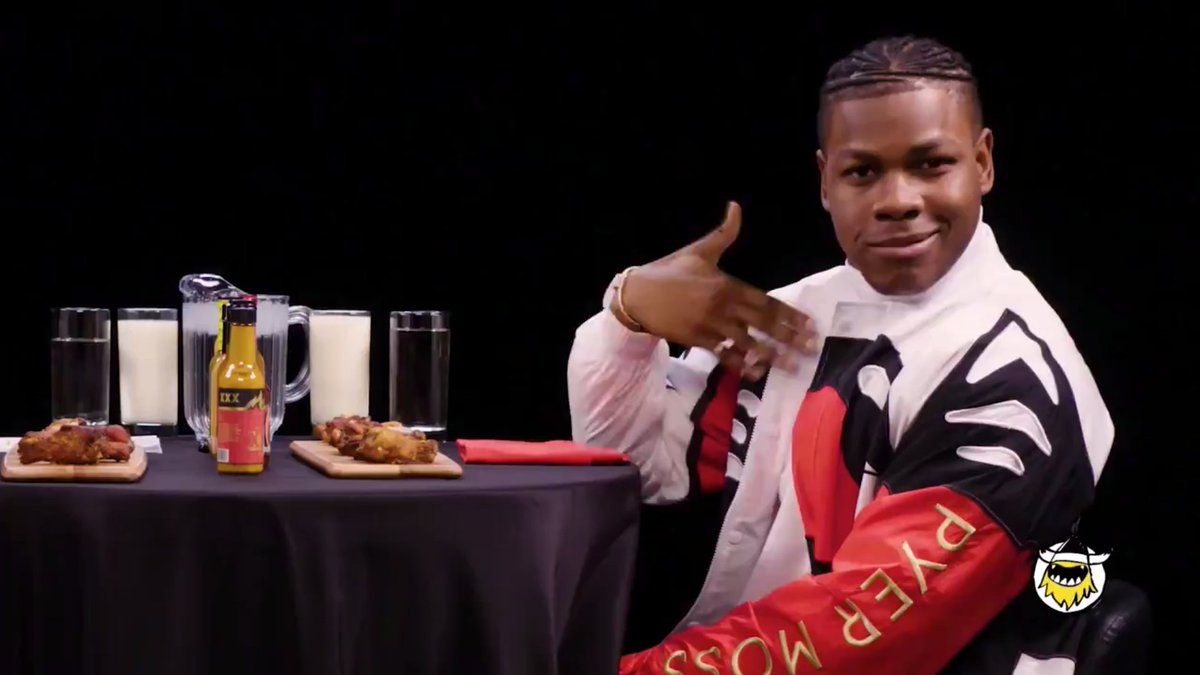 John Boyega eats spicy wings and spins Star Wars tales on 'Hot Ones'