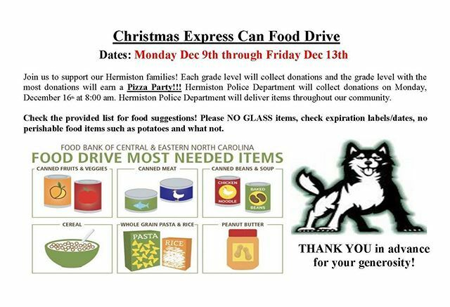 #HuskyGenerosity Annual Christmas Express Food Drive is next week! Grade level competitions for a pizza party! #GiveWhatYouCAN #OneCANmakeAdifference <br>http://pic.twitter.com/L29xcLH79j