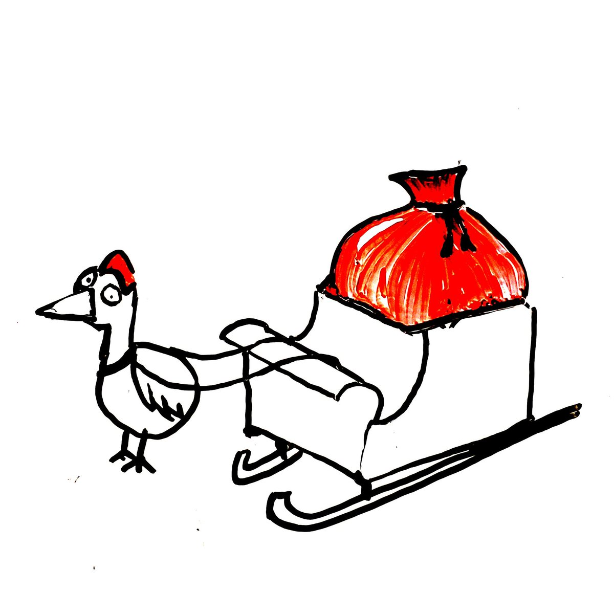 Ronda the Christmas Chicken Was drawn very out of scale  And when the artist saw it They said it was good enough  #whiteboardart #doodle #christmas #cartoon #chicken #santaclaus
