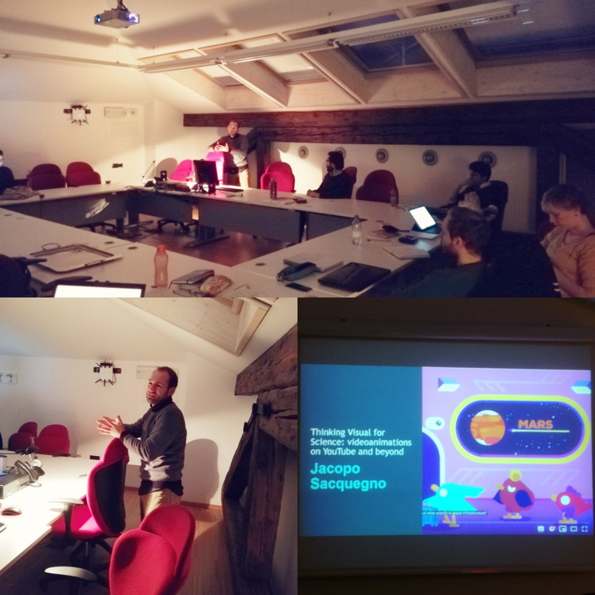 """#Visualcommunication of #science and #cartoon animation at the """"#Science on Screen"""" course💡🎬 #scicommTrento #sciencecommunication"""