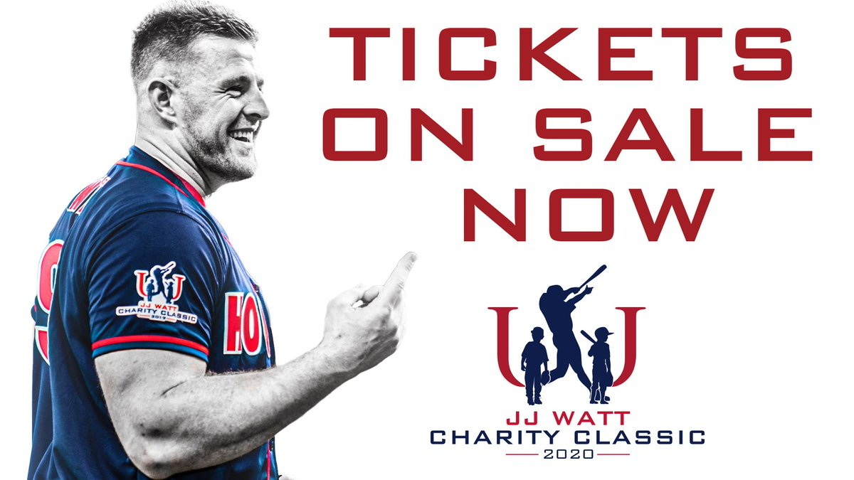 Did you get your tickets to the JJ Watt Charity Classic? If not, buy them now at bit.ly/jjwcc2020twitt…! We can't wait to see you at the game! #JJWF #JJWattFoundation #DreamBigWorkHard #DBWH #JJWCC2020