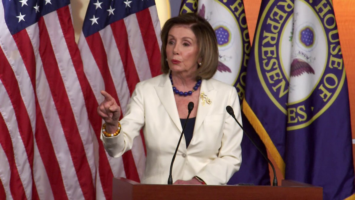 "WATCH: Speaker Pelosi pushes back after a reporter asks if she ""hates"" President Trump:""I don't hate anybody ... As a Catholic, I resent your using the word 'hate' ... Don't mess with me when it comes to words like that."""