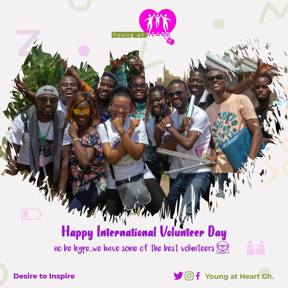 They are our most cherished resource and we owe a great deal of our impact over the years, to their passionate and endearing spirit! @youngatheartgh celebrates all our volunteers! #InternationalVolunteerDay2019 #InternationalVolunteerDay #IVD2019