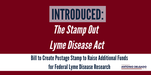 Lyme disease is an urgent threat exacerbated by climate change. Today, I'm introducing the bipartisan Stamp Out Lyme Disease Act which would create a stamp that funds research and development of treatments to address tick-borne diseases including Lyme. delgado.house.gov/media/press-re…