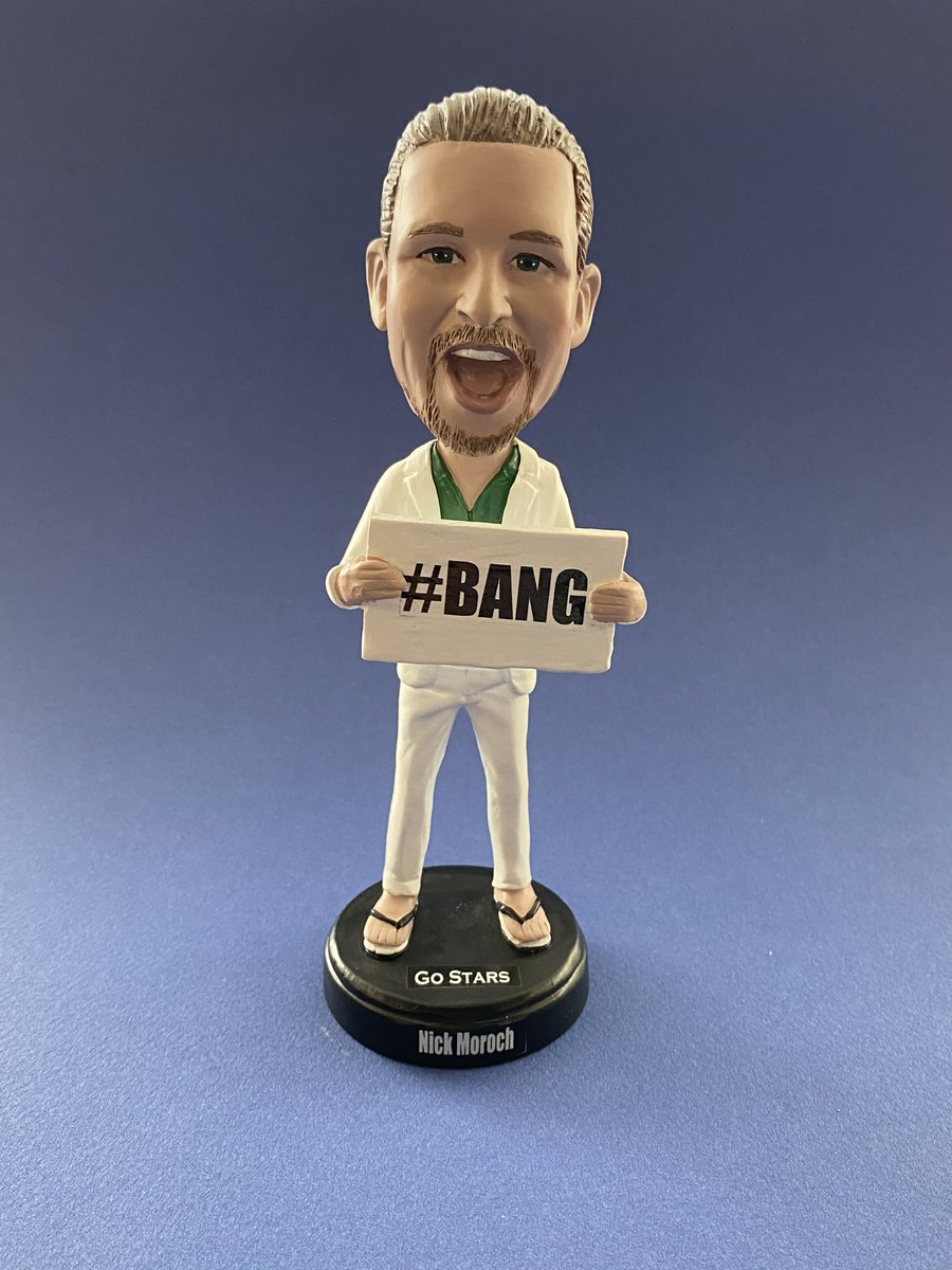 no @DallasStars bobbleheads this season?  No problem, I have you covered!! Who would get one??  LET'S GET SOME RT'S GOING TO SHARE WITH EVERYONE!! #BANG