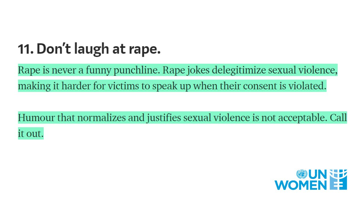 11. Don't laugh at rape. #orangetheworld #16days