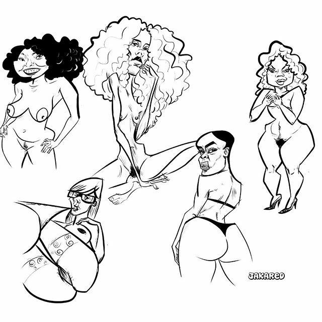 #sketchbook #draw #desenho #ilustração #musas #modelo #dreadlock #boxbraids #sketches #caricatura #drawing #illustration #esboço #cartoon #cartooning #redheaded #preta #pretas #gordinhas