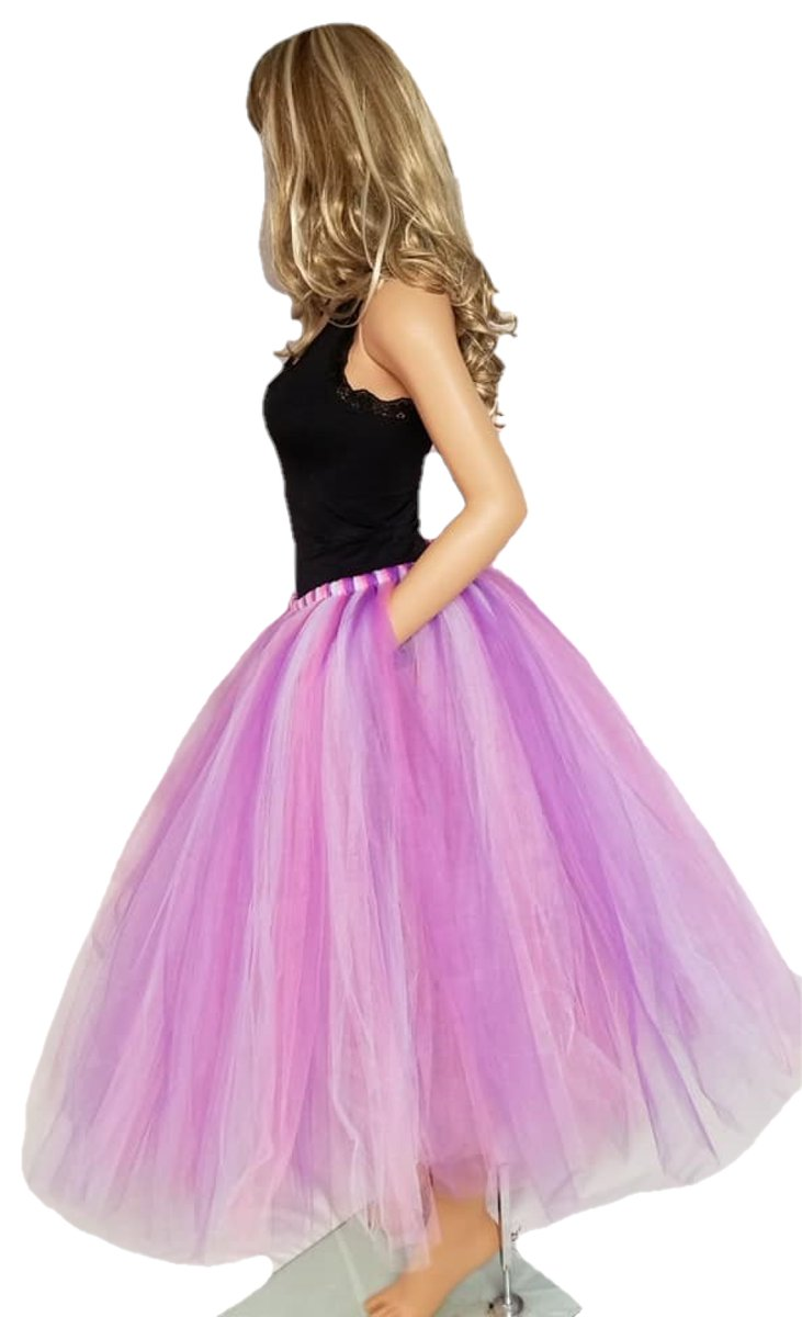 New to the shop is this beautiful long purple and pink tulle skirt. Available in child and adult sizes.    #bbsboutique #smallbusinessowner #purple #pink #weddingideas #bridalshowerfashion #maternity  #photographyprop #fashion #tutu