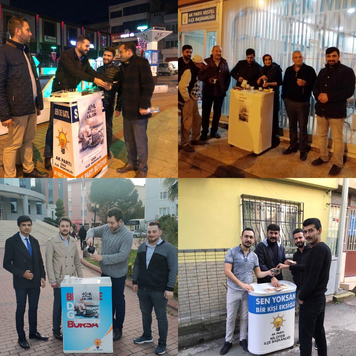 Çevre şehir ve Seçim işleri birimlerimiz #5AralıkDünyaTürkKahvesiGünü sebebiyle ilçe teşkilarımız ile birlikte vatandaşlarımıza Türk kahvesi ikram ettiler. #40YılHatırımızkalsın @tarikkose_