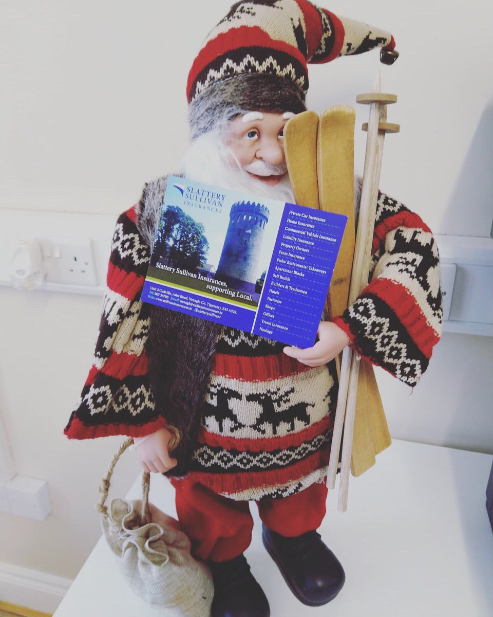 Another Happy Customer after Renewing his Vehicle & Business Insurance Today with Slattery Sullivan Insurances, ahead of a busy time of year for him😜🎅🏻  #Santa #HappyChristmas #ShopLocal #SlatterySullivanInsurances #GreatRates #GreatAdvice #GreatService