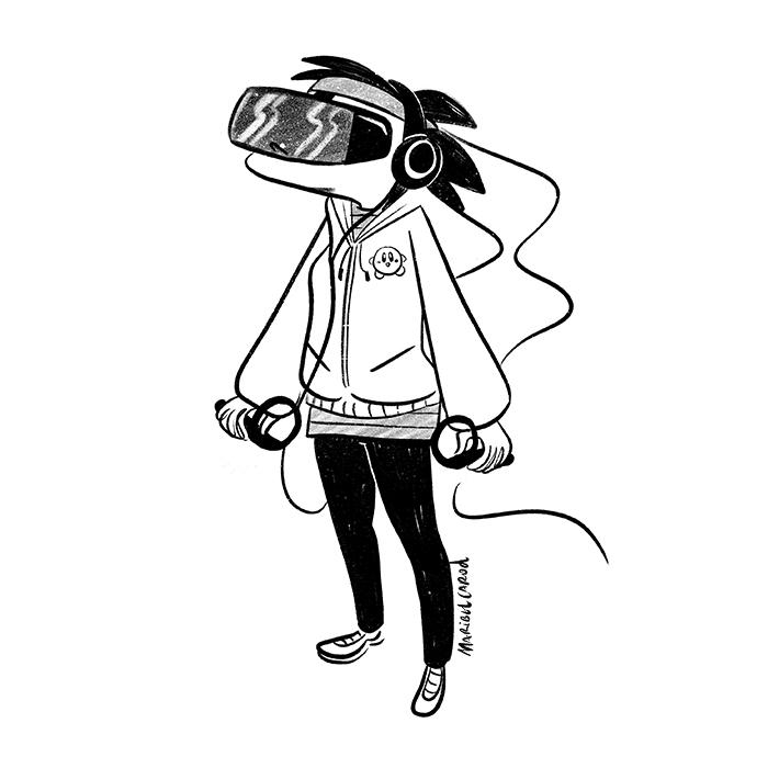 Hoy, dentro de la categoría de simuladores de #realidadvirtual que quizás no hubiera hecho falta inventar os presento a... #VR #reallifeexperience #virtualreality #videogames #simulator #señoragamer #videojuegos #comicgamer #humorgamer #cartoon #comicstrip #comics #webcomics