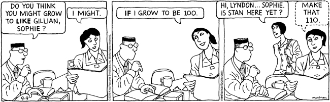 Pros and Cons from 2008 #comicstrip #cartoon (link: )