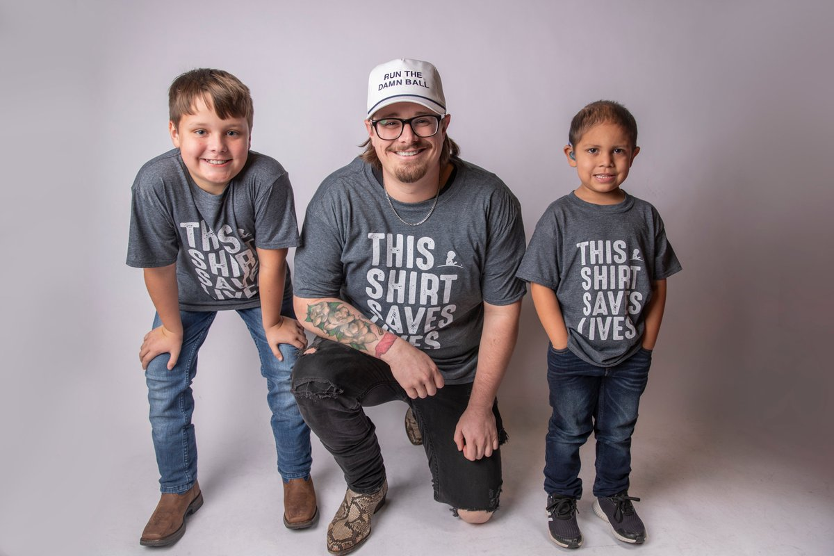 These 2 boys right here are some of the toughest kids I know. Join me in supporting kids like Hutsen and Abraham who are fighting cancer @StJude and get yourself a #ThisShirtSavesLives shirt: http://thisshirtsaveslives.org/