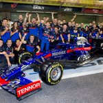 We pushed together, we fought together, thanks @ToroRosso for these 9 great races.👊😘