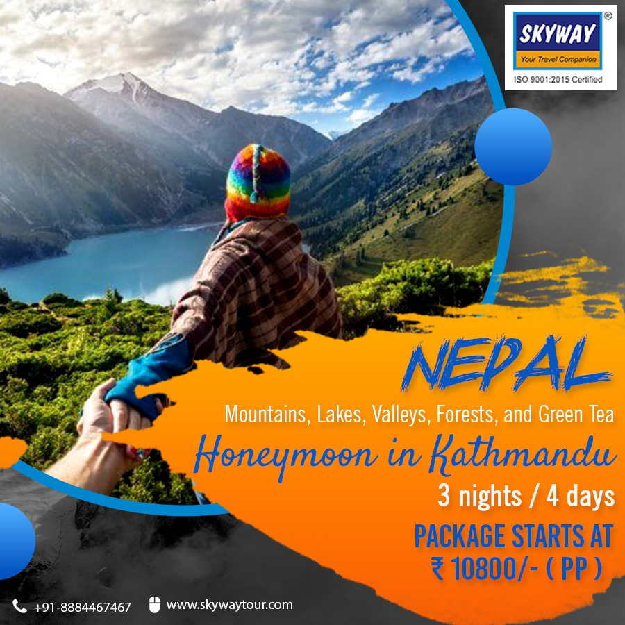 Plan your honeymoon in Kathmandu, a perfect romantic place in Nepal to spend quality time with your better half! Visit:  . . . #explore #kathmandu #nepal #mountains #getaway #discover #nature #beauty  #journey #tour #india #skyway #adventure #travel
