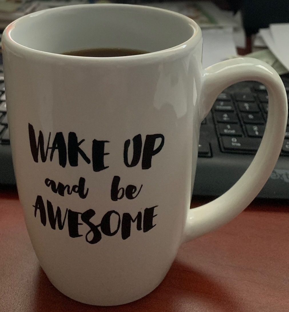 I received this mug from the volleyball team I coached so I thought today this is exactly what I will do!    #beawsome  http://www. emjmarketing.com    <br>http://pic.twitter.com/pKGdAiQgvx